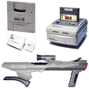Le Super Game Boy, le Satellaview, le Nintendo Power et le Nintendo Scope.