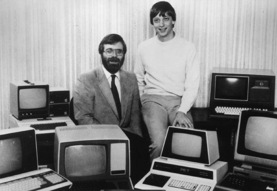 Paul Allen et Bill Gates, les fondateurs de Microsoft.