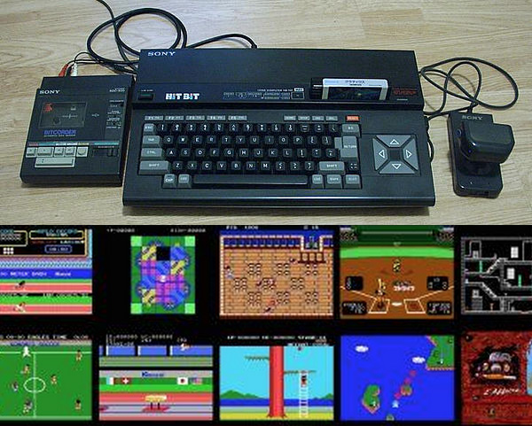 Un modèle du standard MSX et sa ludothèque.