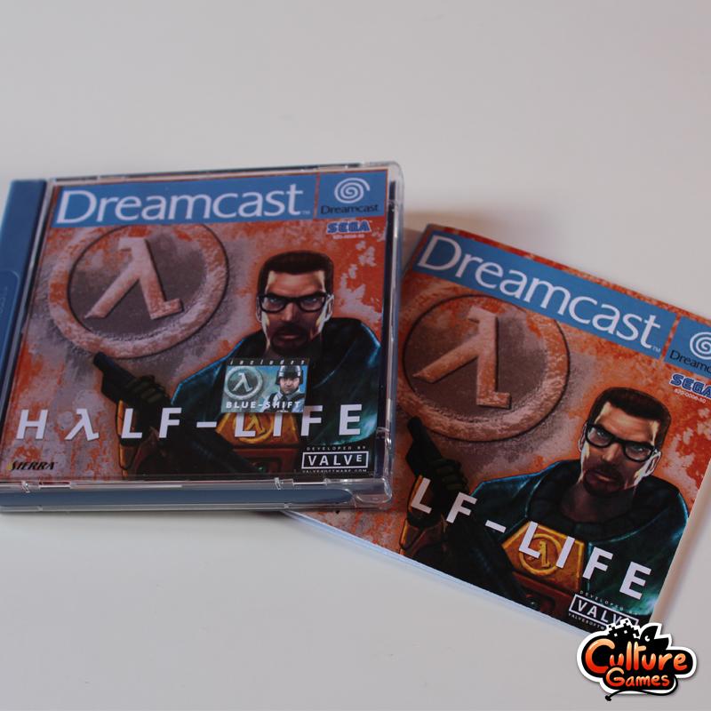 Exemplaire d'Half-Life inédit sur Dreamcast.