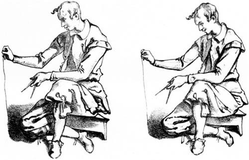 Dessins de Jacopo Chimenti présentant les visions d'un même sujet pour chaque œil, conservé au Palais des beaux-arts de Lille.