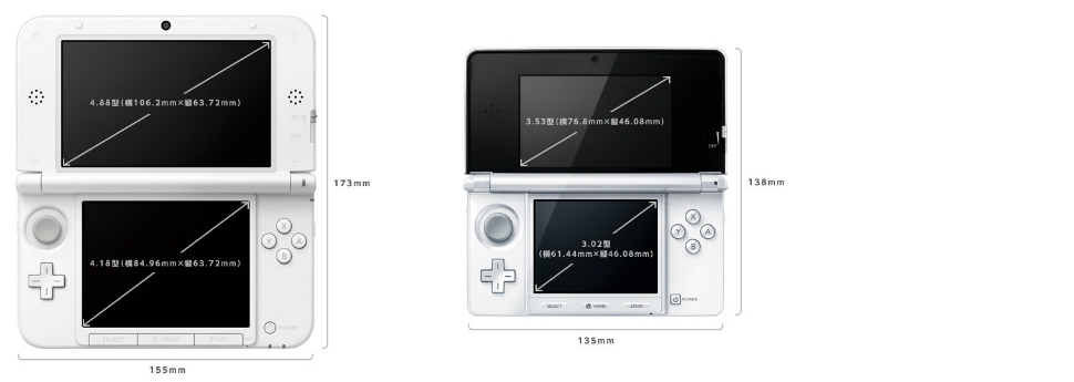 Comparatif 3DS / 3DS XL