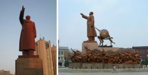 La statue de Mao Zedong érigée à Shenyang en Chine