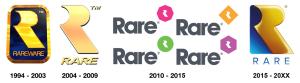 Le logo Rare au fil du temps (depuis 94)