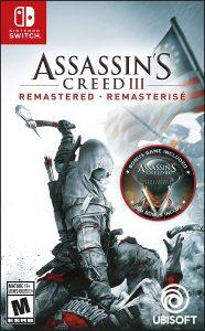 Boite d'Assassin's Creed III Remasterisé sur Nintendo Switch