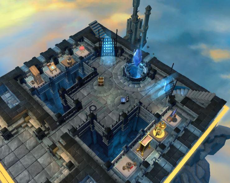 Le cœur du château et ses différents bâtiments